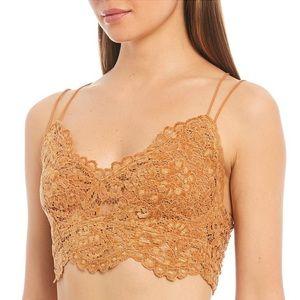 NWT Free People Celine Crochet Lace Bralette